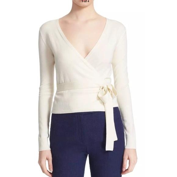 Diane Von Furstenberg ballerina wrap sweater NEW Boutique